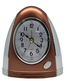 Ρολόι-Ξυπνητήρι 772414 Μπρονζέ-Ασημί