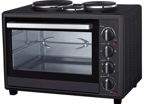 Φουρνάκι 48lt με 3 Εστίες Black Line Ariete 944 Oven 48L With Hot Plates