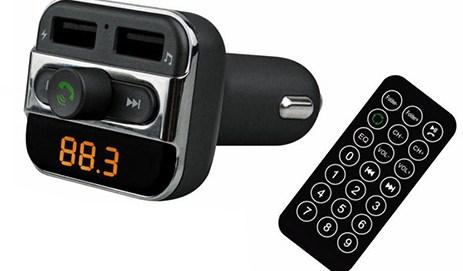 FM Transmitter, Bluetooth & Φορτιστής Αυτοκινήτου Akai FMT-20BT