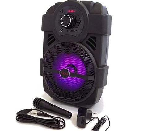 Φορητό Ηχείο Bluetooth με Led & Μικρόφωνο Akai ABTS-808L