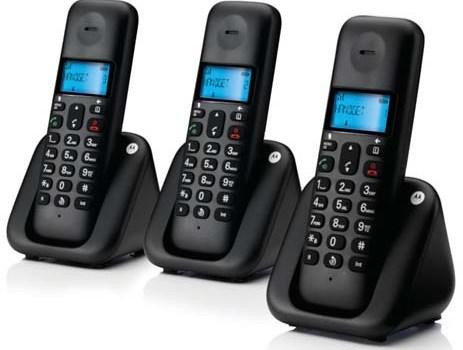 Τριπλο Ασύρματο Τηλέφωνο με Ανοιχτή Ακρόαση Motorola T303Β