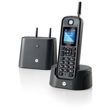 Αδιάβροχο Ασύρματο Τηλέφωνο Motorola O-201 Μαύρο