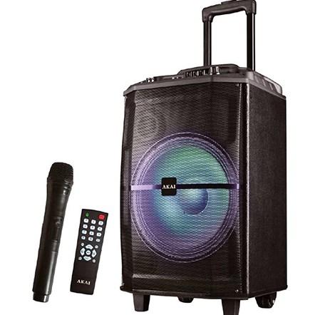 Φορητό Ηχείο Bluetooth με Led & Ασύρματο Μικρόφωνο Akai ABTS-H12L