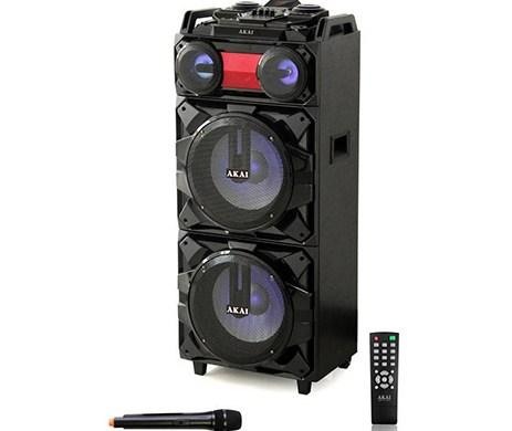 Φορητό Ηχείο Bluetooth με Led & Ασύρματο Μικρόφωνο Akai ABTS-T1203