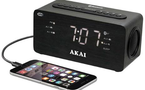 Ψηφιακό Ξυπνητήρι με Bluetooth, Ραδιόφωνο & USB Akai ACR-2993