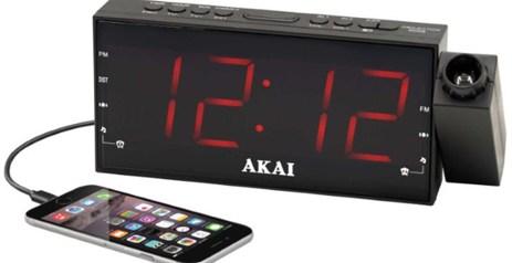 Ψηφιακό Ξυπνητήρι με Projector Ραδιόφωνο & USB Akai ACR-1001