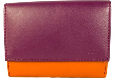Πορτοφόλι Γυναικείο Πολύχρωμο Cozy 1088 Λιλά-Πορτοκαλί