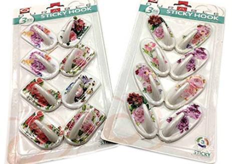 Κρεμαστράκια Αυτοκόλλητα Σετ 8τμχ Λουλούδια Home&Style 73581-180