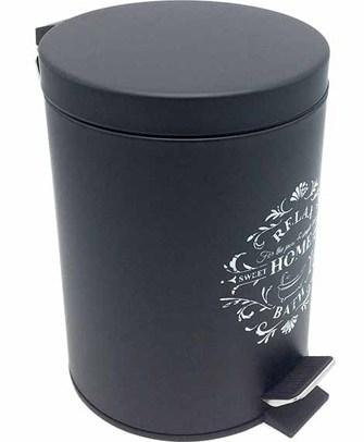 Πεντάλ Μαύρο 5lt με Τυπώμα Home&Style 6660012ΜΡ-6