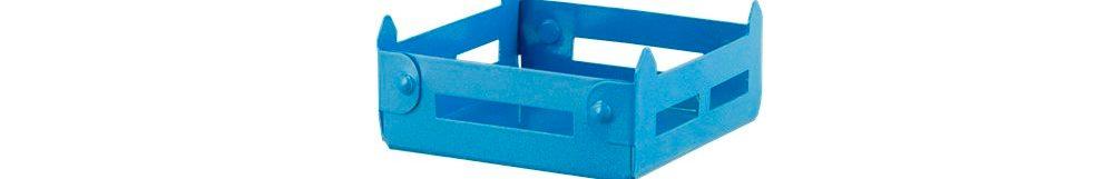 Καφασάκι Αλουμινίου Mini 10x10x3.5cm AL-KAF-0/BL Μπλε