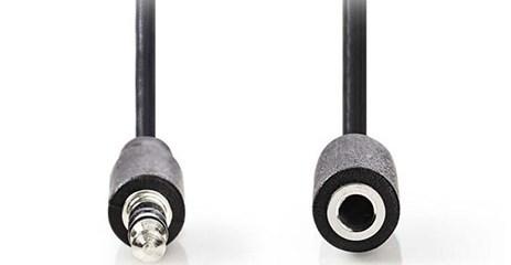 Καλώδιο Ήχου Stereo 3.5mm to 3.5mm 2m Nedis CAGP22050BK20 Μαύρο