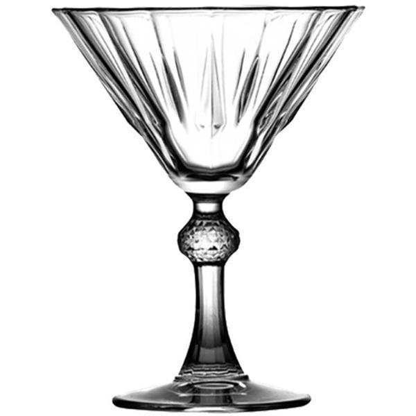 Γυάλινο Ποτήρι Σκαλιστό Martini 23.8cl Pasabahce Diamond-Martini Σετ 6τμχ