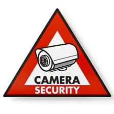 Αυτοκόλλητο Camera Security 123x148mm Nedis STCKWC105