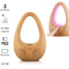 Ηχείο Bluetooth & Πολύχρωμο Φως Led με MicroSD Akai ABTS-V8