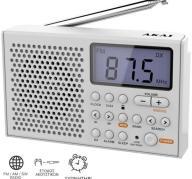 Φορητό Ραδιόφωνο Παγκοσμίου Λήψεως Akai AWBR-305 Λευκό