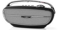 Φορητό Ραδιόφωνο FM & Bluetooth Ηχείο Nedis RDFM5300BK Retro Design Μαύρο/Ασημί
