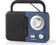 Φορητό Ραδιόφωνο FM Nedis RDFM1300BU Μαύρο/Μπλε