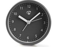 Επιτραπέζιο Αναλογικό Ρολόι-Ξυπνητήρι Nedis CLDK006GY Γκρι