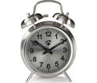 Επιτραπέζιο Αναλογικό Ρολόι-Ξυπνητήρι Retro Nedis CLDK007MT Silver