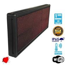 Αδιάβροχη Κυλιόμενη Επιγραφή LED WiFi Κόκκινη Μονής Όψης 104x40cm GloboStar 90102