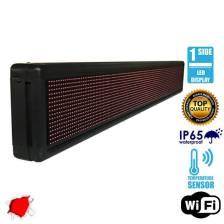 Αδιάβροχη Κυλιόμενη Επιγραφή LED WiFi Κόκκινη Μονής Όψης 168x20cm GloboStar 90104
