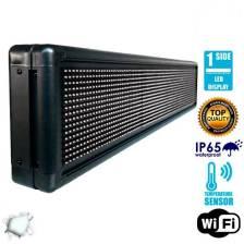 Αδιάβροχη Κυλιόμενη Επιγραφή LED WiFi Λευκή Μονής Όψης 100x20cm GloboStar 90108
