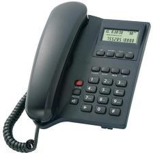 Powertech Σταθερό Ενσύρματο Τηλέφωνο ELLY LCD Black (PT-506)
