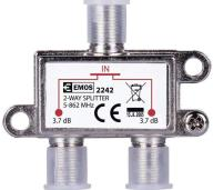 Emos Splitter EU2242 2-Way, 5-862mHz, 3.7dB (EMS-EU2242)