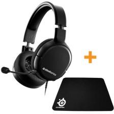Steelseries Headset Arctis 1 Black + QCK Mini Mousepad