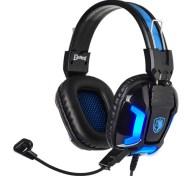 Sades Gaming Headset Element SA-702-BL Blue LED 3.5mm
