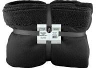 Κουβέρτα Διπλή Fleece 220x240cm Μαύρη Fennel BFS360-220240-BK