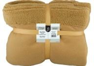 Κουβέρτα Διπλή Fleece 220x240cm Καφέ Fennel BFS360-220240-BR