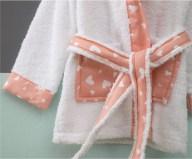 Μπουρνούζι Βρεφικό για 0-12 Μηνών με Σχέδιο Πασχαλίτσα Χρώμα Λευκό Zouzounia ZOU-BD-271