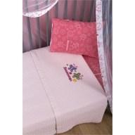 Κουβέρτα Βρεφική 110x140cm με Σχέδιο Πεταλούδα Χρώμα Ροζ Zouzounia ZOU-BD-413