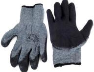 Amio Αντιολισθητικά Γάντια Εργασίας 02047 Γκρι-Μαύρο