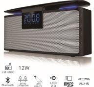 Akai ABTS-M10 Φορητό Ηχείο Bluetooth & Διπλό Ξυπνητήρι με Μicro SD, Ραδιόφωνο & USB 12w