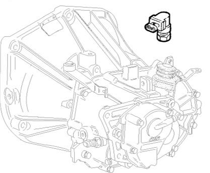 Fiat Punto (1999>2003) 1.8 16v Gearbox Speed Sensor 46817374