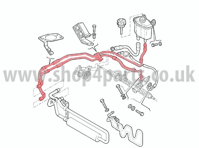 Alfa Romeo 147 1.9 JTD Power Steering Pipes 50501680