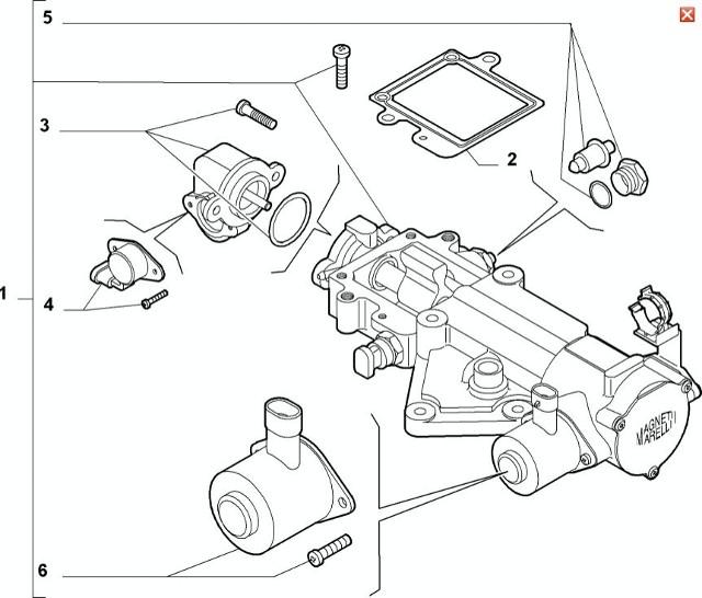 Fiat Panda III (09>12) 1.2 8v Selespeed Actuator 71732923