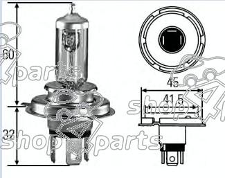 Fiat Grande Punto 1.9 JTD Headlamp Bulb H4 Halogen 14152090