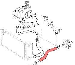 Fiat Punto (1999 to 2003) 1.8 16v Coolant Pipes