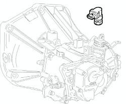 Fiat Punto (1999>2003) 1.2 8v Gearbox Speed Sensor 46817374