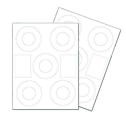 40mm Matte Laser / Inkjet Mini CD DVD Labels