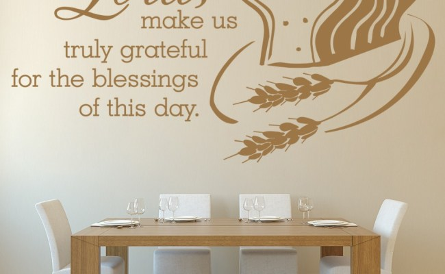Lord Make Us Truly Grateful Christian Quote Wall Sticker