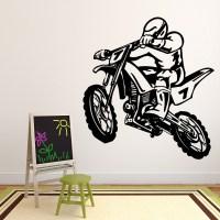 Dirt Bike Stunt Motocross Bike Motorbike Wall Sticker Kids ...
