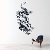 Oriental Crawling Dragon Fantasy Dragons Wall Stickers