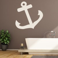 Ships Anchor Simple Silhouette Pirates Wall Stickers ...