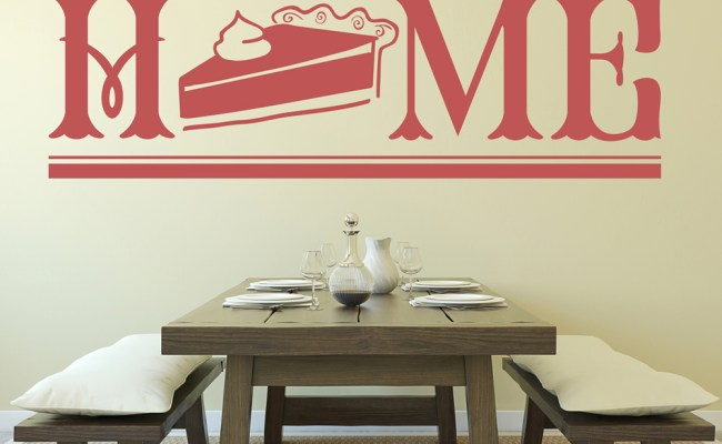 No Place Like Home Quote Dining Room Wall Stickers Home