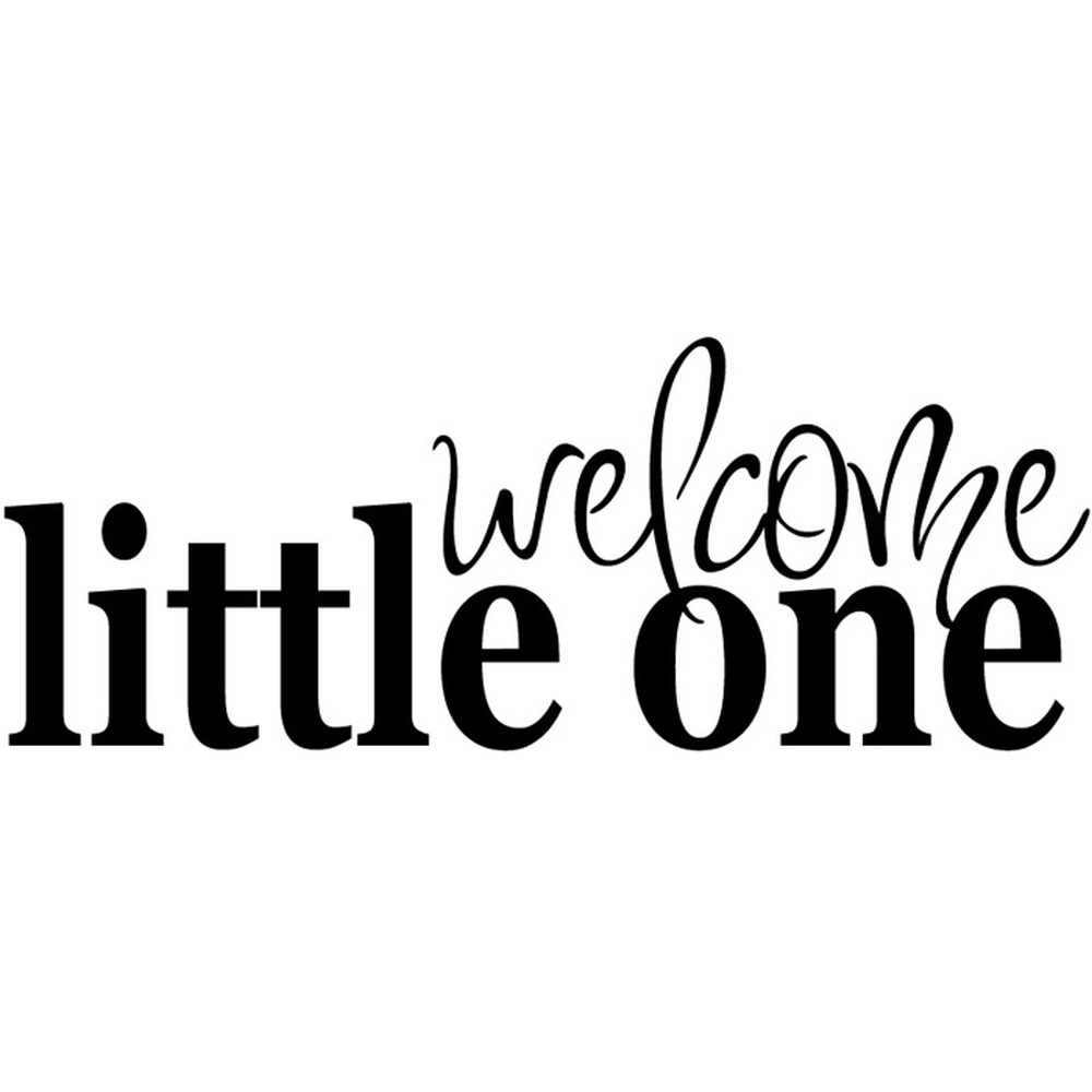 Welcome Little One Bedroom Quote Nursery & Baby Wall