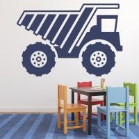 Digger Truck Wall Sticker Construction Wall Decal Boys ...